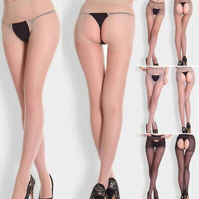 New Sexy Women Girls Fitness Open Crotch Sheer Pantyhose Socks Stockings Tights