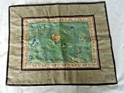Fine 19Th Century Chinese Silk Embroidered Panel