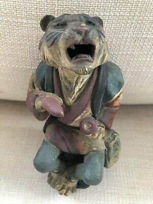 Chinese Zodiac Tiger Statute Temple Piece / Incense Holder