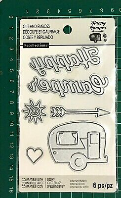 Recollections Cut And Emboss Dies ~Camping Code 508077