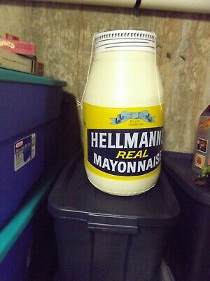 """Vintage Hellmann's Mayonnaise Inflatable Advertising Store Display Bottle 19"""""""
