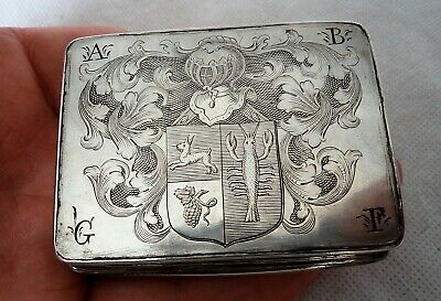 FINE 18TH CENTURY c1780 GEORGIAN / GERMAN FAUX TORTOISESHELL & SILVER SNUFF BOX
