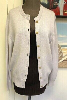 "CASHMERE ""OPAL""  Cardigan~Castle Heather~Vintage Made in Scotland~Gold buttons"