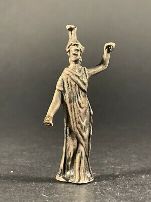 Very Rare & Detailed Ancient Roman Solid Silver Diana Statue - Circa. 100-200 Ad
