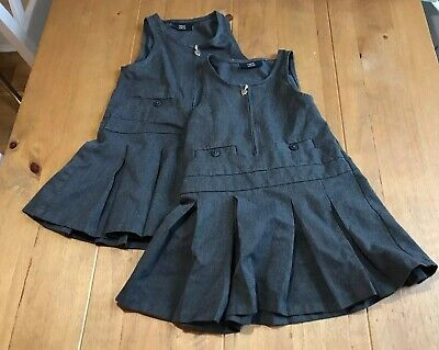 Pack Of 2 Next Girls Grey School Pinafore Age 4. Plenty Of Use Left.
