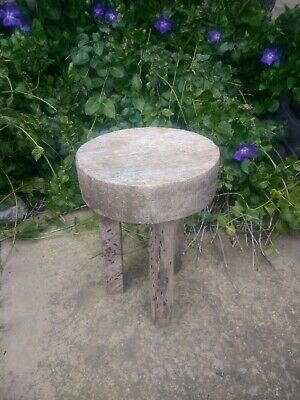 Vintage, rustic, aged, child's, wooden milking stool