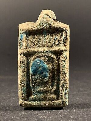 Ancient Egyptian Amulet Featuring A Cartouche And Hieroglyphics Circa. 770-332Bc