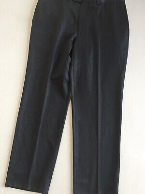 Jack Victor Prossimo Super 130's Wool & Cashmere Spencer Pants 36 Grey Flat