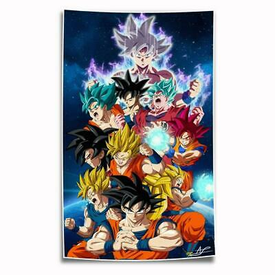 """8""""x14"""" Dragon Ball Wukong Painting HD on Canvas Home Decor Room Wall Art Posters"""