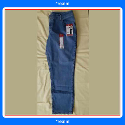 NEW Womens Lee Riders Relaxed Fit Straight Leg Stretch Instant Slim Jeans Sz 18W