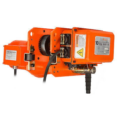 Prowinch 10 Ton Power Trolley 230/460V 60HZ 3 Phase with Limit Switches, Pend...