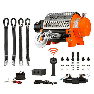 ProWinch Hydraulic Winch Incorporated Roller 20000 lbs. Heavy Duty 24V Wired/...