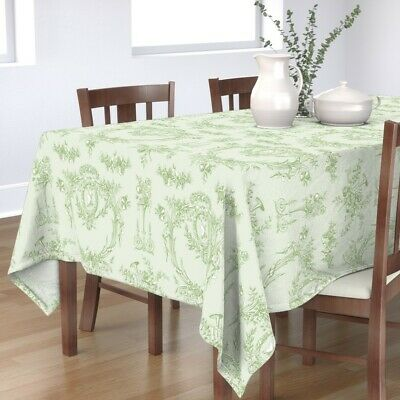 Tablecloth French Vintage Rococo Shabby Chic Floral Cottage Style Cotton Sateen