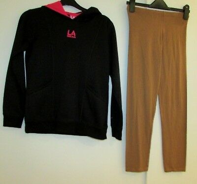 Girls Hoodie & Leggings Age 12-13 Years La Gear & Matalan Used Condition