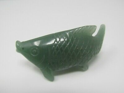 Jade Fish Figurine Nice Design Green