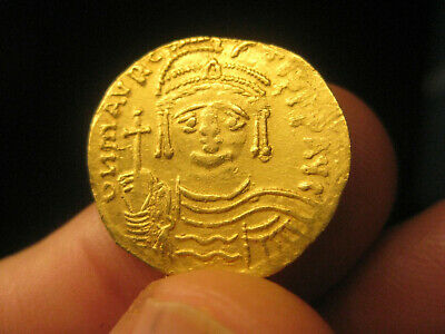 authentic Byzantine GOLD coin Maurice Tiberius 582-602 SOLIDUS - 4.40g