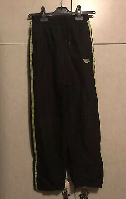 Londsdale Boy's Black (Lined) Jogging Bottoms / Sports Joggers Age 11-12 years