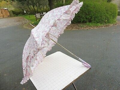 Vintage 1960's era frilled edge parasol/umbrella good condition