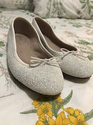 Bloch Ballet Flats Ivory Size 39 Leather Wedding Shoes