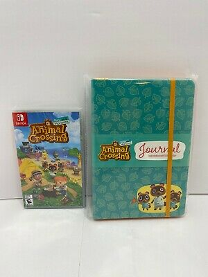 Animal Crossing: New Horizons Game + Journal Notebook With 2020 Calendar