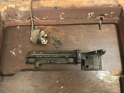 Antique Singer Treadle Sewing Machine Cabinet Metal Lift Spring Bracket Hinge