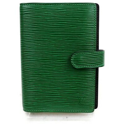 Authentic Louis Vuitton Diary Cover R20054 Agenda PM Green Epi 401166