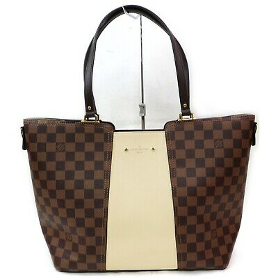 Authentic Louis Vuitton Tote Bag N44022 Jersey Browns Damier 401190