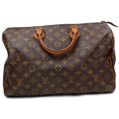 Authentic Louis Vuitton Hand Bag Speedy 35 M41524 Browns Monogram 401203