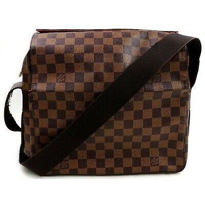Authentic Louis Vuitton Shoulder Bag Naviglio N45255 Browns Damier 401191