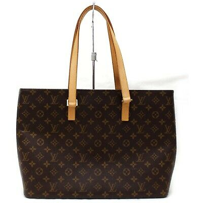 Authentic Louis Vuitton Tote Bag Luco M51155 Browns Monogram 401210