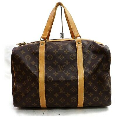 Authentic Louis Vuitton Boston Bag Sac Souple 35 M41626 Browns Monogram 401223