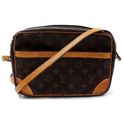 Authentic Louis Vuitton Shoulder Bag Trocadero 27 M51274 Browns Monogram 401218