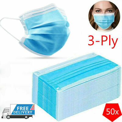 1000Pcs Anti Disposable Face Surgical Dental Dust Flu Mouth Cover 3 Ply LOT