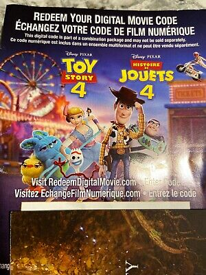 Disney Toy Story 4 Blu Ray Redeem Itunes Read