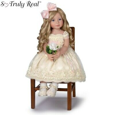 "Ashton Drake Doll ""Pearls Lace & Grace"" Collectable as NEW"
