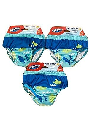 Lot Of 3 Swimways Reusable Swim Diaper Size 6 Months (13-18lbs) 50+UPF