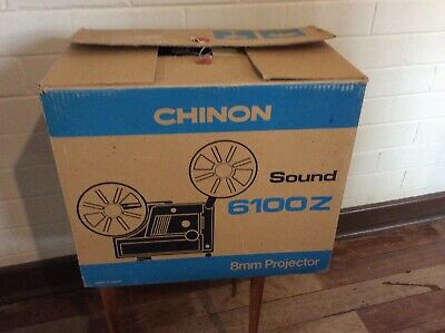 Vintage Chinon Sound 6100 Z 8Mm Projector In The Box-Looks Mint!