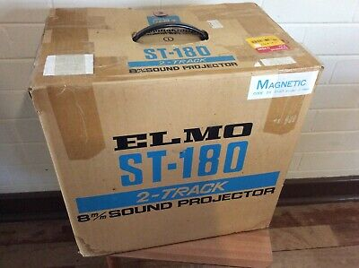 Vintage Elmo St-180 2-Track 8Mm Sound Projector In The Box