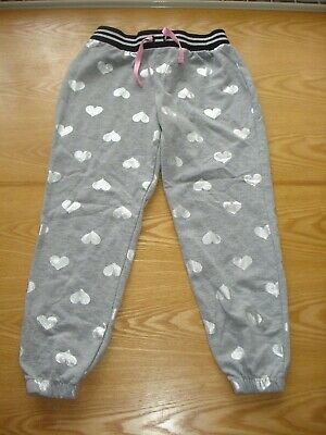 1 X Girl's Grey & Silver Joggers Trousers Age 6-7 George Used