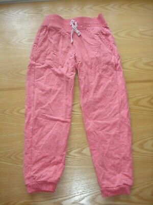 1 X Girl's Salmon Pink Joggers Trousers Age 6-7 George Used