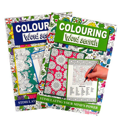 Creative Colouring and Word Search Book - Books 1 and 2, by Squiggle