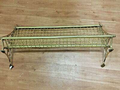 Brass Vintage NSW railway luggage rack in great condition 29 inches wide