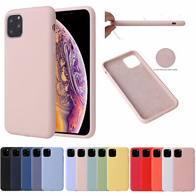 For iPhone, Anti-slip Shockproof Liquid Silicone Soft Gel Rubber Case + glass