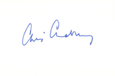 Chris Chataway - British Runner 'Roger Bannister's Paceman' Hand Signed Card.