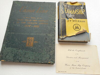 UNION LINE History of the UNION STEAM SHIP CO of N Z + FREE SEAMANSHIP  BOOK