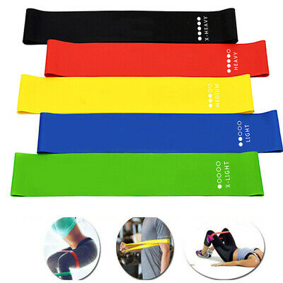 RESISTANCE BANDS LOOP SINGLES - Home Workout Exercise Glutes Yoga Pilates *NEW*
