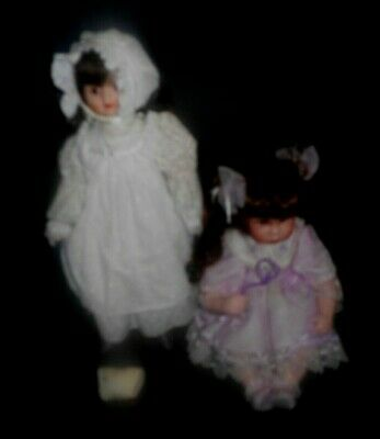 2 Porcelain Dolls .Very Good Condition. Pre- Loved.