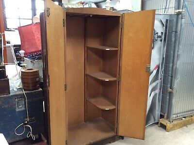 Vintage Gentlemans Wardrobe. Painting Project. Nursery Wardrobe. Child's Storage