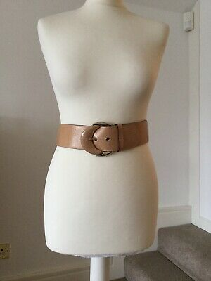 Reiss Belt Leather & Elastic Nude Size Small