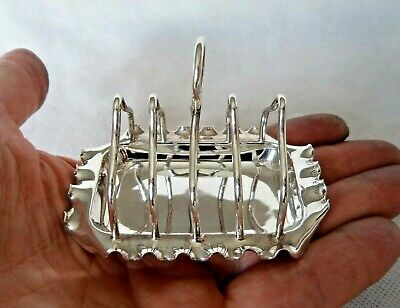 Victorian London 1897 Solid Silver French Toast Rack And Stand